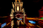Lights shine at the Country Club Plaza in Kansas City, Missouri at Christmas time.
