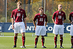 11 November 2008: Virginia Tech's Taylor Walsh (23), Craig Burnell (21), and Jeremy Williams (19). North Carolina State University Wolfpack defeated the Virginia Tech Hokies 3-1 at Koka Booth Stadium at WakeMed Soccer Park in Cary, NC in a men's ACC tournament first round game.