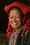 Red Dao woman in Tafen Village, Hill tribe town in Sa Pa region of Northern Vietnam