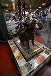 Reading Terminal Market, pig sculpture..Philadelphia, Pennsylvania, PA USA.  Photo copyright Lee Foster, 510-549-2202, lee@fostertravel.com, www.fostertravel.com.  Photo 233-30527