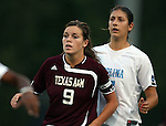 07 September 2007: Texas A&M's Melissa Garey (9) and North Carolina's Yael Averbuch. The University of North Carolina Tar Heels defeated the Texas A&M University Aggies 2-1 at Fetzer Field in Chapel Hill, North Carolina in an NCAA Division I Women's Soccer game, and part of the annual Nike Carolina Classic tournament.