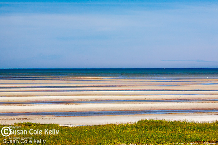 Sand Flats at low tide at Skaket Beach in Orleans, Cape Cod, MA, USA