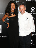 CULVER CITY, CA, USA - OCTOBER 08: Gelila Assefa, Wolfgang Puck arrive at the 5th Annual PSLA Autumn Party benefiting Children's Institute, Inc. held at 3Labs on October 8, 2014 in Culver City, California, United States. (Photo by Xavier Collin/Celebrity Monitor)