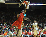 Mississippi's Terrance Henry scores against LSU during an NCAA college basketball game in Oxford, Miss., on Thursday, March 4, 2010. Ole Miss won 72-59.