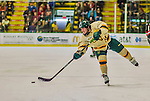 17 December 2013:  University of Vermont Catamount Forward Pete Massar, a Senior from Williston, VT, in second period action against the Northeastern University Huskies at Gutterson Fieldhouse in Burlington, Vermont. The Huskies shut out the Catamounts 3-0 to end UVM's 5 game winning streak. Mandatory Credit: Ed Wolfstein Photo *** RAW (NEF) Image File Available ***