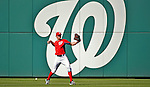 15 June 2012: Washington Nationals pitcher Stephen Strasburg warms up prior to a game against the New York Yankees at Nationals Park in Washington, DC. The Yankees defeated the Nationals 7-2 in the first game of their 3-game series. Mandatory Credit: Ed Wolfstein Photo