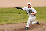 Vale senior Kyle Barras pitches during the first game of a doubleheader between Vale and Nyssa on April 15, 2011 at Nyssa High School. Barras struck out thirteen in seven innings in the 4-1 Vale win.