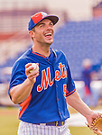 8 March 2015: New York Mets third baseman David Wright warms up prior to a Spring Training game against the Boston Red Sox at Tradition Field in Port St. Lucie, Florida. The Mets fell to the Red Sox 6-3 in Grapefruit League play. Mandatory Credit: Ed Wolfstein Photo *** RAW (NEF) Image File Available ***