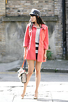 NO REPRO FEE.30/8/2010. AWEAR AUTUMN COLLECTION. Yomiko Chen models a selection of dresses from A|wear's new autumn '10 collection in Dublin.Yomiko Chen wears Lace shift dress - EUR40 Coral bow coat - EUR50 Peak cap - EUR15.  The collection arrives instore and onwww.awear.comfrom this week. Picture James Horan/Collins Photos