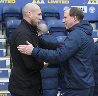 Preston North End's Manager Simon Grayson greets Reading's Manager Jaap Stam <br /> <br /> Photographer Mick Walker/CameraSport<br /> <br /> The EFL Sky Bet Championship - Preston North End v Reading - Saturday 11th March 2017 - Deepdale - Preston<br /> <br /> World Copyright &copy; 2017 CameraSport. All rights reserved. 43 Linden Ave. Countesthorpe. Leicester. England. LE8 5PG - Tel: +44 (0) 116 277 4147 - admin@camerasport.com - www.camerasport.com