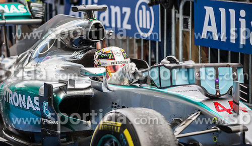 21.06.2015, Red Bull Ring, Spielberg, AUT, FIA, Formel 1, Grosser Preis von Österreich, Rennen, im Bild 2. Platz Lewis Hamilton, (GBR, Mercedes AMG Petronas F1 Team) // during the Race of the Austrian Formula One Grand Prix at the Red Bull Ring in Spielberg, Austria, 2015/06/21, EXPA Pictures © 2015, PhotoCredit: EXPA/ Dominik Angerer