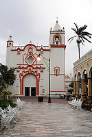 La Candelaria church in the Spanish colonial river town of Tlacotalpan, Veracruz, Mexico. Tlacotlapan was made a UNESCO World Heritage Site in 1998.