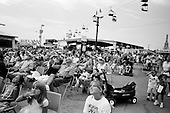 Springfield, Illinois.August 17, 2006..Watching the diving show at the fair.