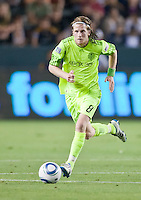 CARSON, CA – July 4, 2011: Seattle Sounders midfielder Erik Friberg (8) during the match between LA Galaxy and Seattle Sounders FC at the Home Depot Center in Carson, California. Final score LA Galaxy 0, Seattle Sounders FC 0.