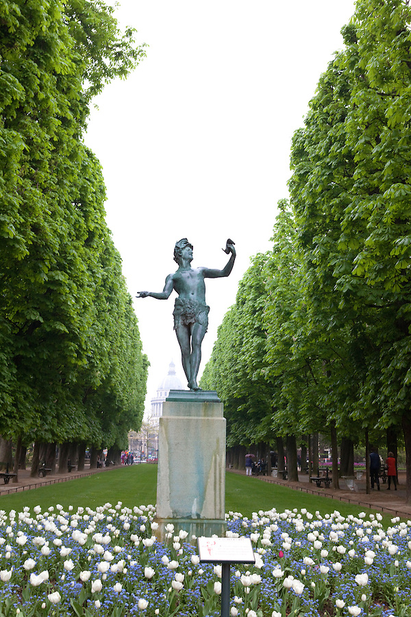 The Greek Actor, L'Acteur Grec,  (1868) by Charles Arthur Bourgeois in Luxembourg Gardens, Paris, France