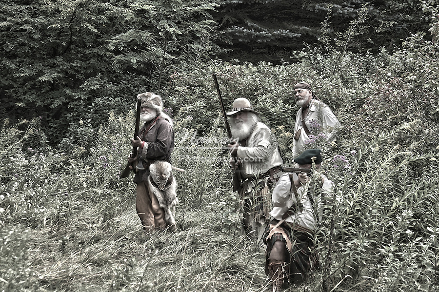 A hunting party in the woods HDR