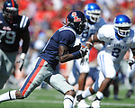 Ole Miss wide receiver Jesse Grandy (10) runs at Vaught-Hemingway Stadium in Oxford, Miss. on Saturday, October 2, 2010. Ole Miss won 42-35 to improve to 3-2..