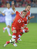 Fussball International  WM Qualifikation 2014   11.09.2012 Schweiz - Albanien Xherdan SHAQIRI (vorn, Schweiz) und Granit Xhaka (Schweiz)