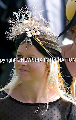 """HAT FASHIONS.on the first day of Royal Ascot 2010_15/06/2010.Mandatory Photo Credit: ©Dias/Newspix International..**ALL FEES PAYABLE TO: """"NEWSPIX INTERNATIONAL""""**..PHOTO CREDIT MANDATORY!!: NEWSPIX INTERNATIONAL(Failure to credit will incur a surcharge of 100% of reproduction fees)..IMMEDIATE CONFIRMATION OF USAGE REQUIRED:.Newspix International, 31 Chinnery Hill, Bishop's Stortford, ENGLAND CM23 3PS.Tel:+441279 324672  ; Fax: +441279656877.Mobile:  0777568 1153.e-mail: info@newspixinternational.co.uk"""