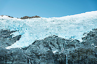 Rob Roy glacier in Matukituki Valley, Mount Aspiring National Park, Central Otago, South Island, New Zealand