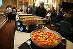 Guests at the 15th Annual Martin Luther King Jr. Day Brunch approach the food table in Baker University Center Ballroom on Monday, January 19. The Brunch was hosted by Alpha Phi Alpha fraternity and commenced following a Silent March in honor of Dr. King.