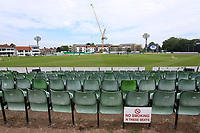 General view of the ground looking towards the construction site ahead of Kent Spitfires vs Essex Eagles, Royal London One-Day Cup Cricket at the St Lawrence Ground on 17th May 2017
