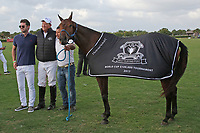 WELLINGTON, FL - APRIL 15:  Dolfina Chita is the Best Play Pony in final of the $100,000 World Cup for Bob Jornayvaz, at the Grand Champions Polo Club, on April 15, 2017 in Wellington, Florida. (Photo by Liz Lamont/Eclipse Sportswire/Getty Images)