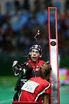 Rio de Janeiro-14/9/2016- Canadian boccia player Eric Bussiere competes at the Carioca Arena during the 2016 Paralympic Games in Rio. Photo Scott Grant/Canadian Paralympic Committee