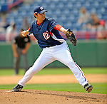 14 March 2008: Washington Nationals' pitcher Steven Shell in action during a Spring Training game against the Cleveland Indians at Space Coast Stadium, in Viera, Florida. The Nationals defeated the visiting Indians 8-4 as both teams fielded split squads home and away...Mandatory Photo Credit: Ed Wolfstein Photo
