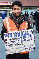 Junior doctors begin a 24 hr strike action and form a picket line outside the Royal London Hospital in Whitechapel, London. 2016