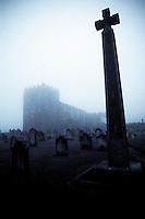Caedmon Memorial, St. Mary's Church, Whitby, North Yorkshire-Selenium toning