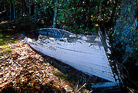 An old rowboat decomposes on Bear Island in Apostle Islands National Lakeshore near Bayfield, Wis.