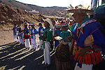 Pilgrimage of Native Wixaricas to their sacred place of Wirikuta, February 2012. The scene is at their sacred place of Urumuti in Zacatecas state. Photo by Heriberto Rodriguez