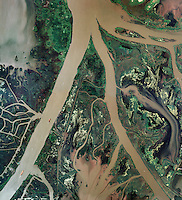 aerial photo map of Mississippi River Delta