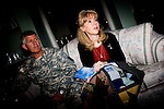 Major General Mark Graham and his wife, Carol, talk about the deaths of their two sons in their Fort Carson home in Colorado Springs, Colo.  Their son, Second Lt. Jeff Graham was killed by a roadside bomb in Iraq just months after their other son, ROTC Cadet Kevin Graham, committed suicide in his apartment.  Since Kevin's suicide, the Grahams have been outspoken advocates for suicide prevention.  [NOTE: The quilt in her hand was a gift to the family and is made of their sons' clothing]