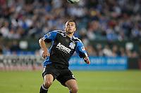 Jason Hernandez looks to bring down the ball. Toronto FC defeated the San Jose Earthquakes 3-1 at Buck Shaw Stadium in Santa Clara, California on May 29th, 2010.