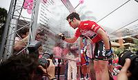 2013 Giro d'Italia .stage 03..Mark Cavendish (GBR) signing in .
