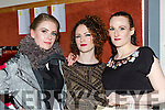 Erin Bunyan, Nikki Leahy and Fern Hardwick at the Gneeveguilla NS fashion show in the Killarney Oaks on Friday night