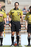 23 August 2015: Referee Alex Rhinehart. The Duke University Blue Devils played the Weber State University Wildcats at Fetzer Field in Chapel Hill, NC in a 2015 NCAA Division I Women's Soccer game. Duke won the game 4-0.