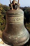 Varna, Bulgaria. Monastery bell at Aladzha (Aladja).