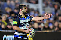 Rob Webber of Bath Rugby with the ball. Aviva Premiership match, between Bath Rugby and Gloucester Rugby on February 5, 2016 at the Recreation Ground in Bath, England. Photo by: Patrick Khachfe / Onside Images