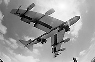 June 1972, Guam --- The Andersen Air Force Base on Guam Island from where the B-52 Stratofortress planes take off for Vietnam. A B-52 bomber taking off from Guam. --- Image by © JP Laffont/Sygma/Corbis