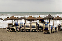 Bad day for sun worshippers - beach, Estepona, Spain, April, 2017, 201704203423<br />