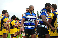 Bath Rugby debutant Aled Brew looks on after the matchAviva Premiership match, between Bath Rugby and Worcester Warriors on September 17, 2016 at the Recreation Ground in Bath, England. Photo by: Patrick Khachfe / Onside Images