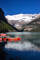 Canoe dock Lake Louise Banff National Park Alberta, Canada