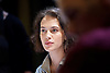Oresteia<br /> by Aeschylus <br /> a new version created by Robert Icke<br /> at Almeida Theatre, London, Great Britain <br /> press photocall<br /> 4th June 2015 <br /> <br /> <br /> <br /> Jessica Brown Findlay<br /> (know for playing Lady Sybil Crawley in Downton Abbey) <br /> <br /> <br /> <br /> Photograph by Elliott Franks <br /> Image licensed to Elliott Franks Photography Services