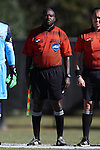 06 November 2016: Assistant Referee Clive Edwards. The Wake Forest University Demon Deacons hosted the University of Notre Dame Fighting Irish at Spry Stadium in Winston-Salem, North Carolina in a 2016 NCAA Division I Men's Soccer match and an Atlantic Coast Conference Men's Soccer Tournament quarterfinal. Wake Forest won the game 1-0.