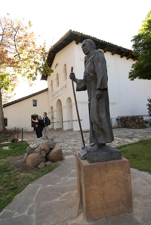 California, San Luis Obispo County: The San Luis Obispo Mission, Mission San Luis Obispo de Tolosa, the 5th in the 21 mission chain founded by Junipero Serra.  At the Mission you can see the Interior and the original Bells..Photo caluis155-71127. .Photo copyright Lee Foster, www.fostertravel.com, 510-549-2202, lee@fostertravel.com