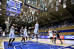 15 November 2016: Duke's Oderah Chidom (22) shoots a layup. The Duke University Blue Devils hosted the Longwood University Lancers at Cameron Indoor Stadium in Durham, North Carolina in a 2016-17 NCAA Division I Women's Basketball game. Duke won the game 105-48.