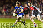 Conor Geaney Kerry in action against Keith Higgins Mayo in the National Football league at Austin Stack Park, Tralee on Saturday night.